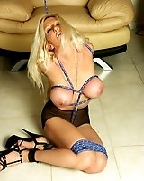 Hot Body blonde gets tied up
