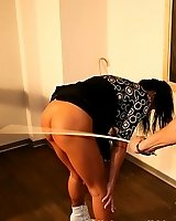 Teach her manners by the cane