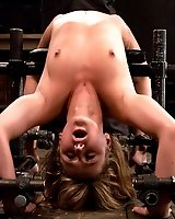 Former gymnast contorted, bound, and made to cum over and over.